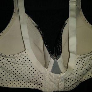 Cacique Intimates & Sleepwear - Cacique (Lane Bryant) Black Polka Dot and Lace Bra